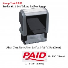 Fancy Paid 4912 Self Inking Rubber Stamp