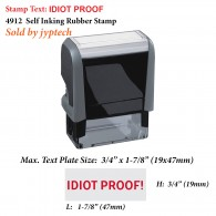 Idiot Proof 4912 Self Inking Office Rubber Stamp