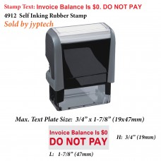 Invoice Balance is $0. Do Not Pay 4912 Self Inking Rubber Stamp