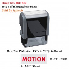 Motion Legal 4912 Self Inking Rubber Stamp