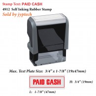 Paid Cash 4912 Self Inking Office Rubber Stamp