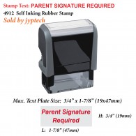 Parent Signature Required Teacher 4912 Self Inking Rubber Stamp