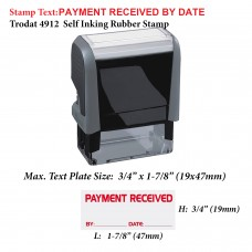 Payment Received by Date 4912 Self Inking Rubber Stamp
