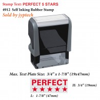 Perfect 5 Stars Teacher 4912 Self Inking Rubber Stamp
