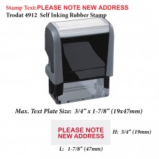 Please Note New Address 4912 Self Inking Rubber Stamp