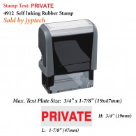Private 4912 Self Inking Rubber Stamp