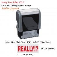 Really!? 4912 Self Inking Office Rubber Stamp