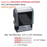 Received Approved Entered 4912 Self Inking Rubber Stamp