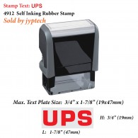 UPS 4912 Self Inking Rubber Stamp