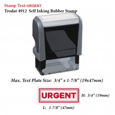 Urgent w/Border Office 4912 Self Inking Office Rubber Stamp