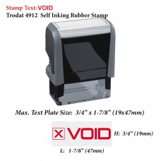 Void Office 4912 Self Inking Office Rubber Stamp