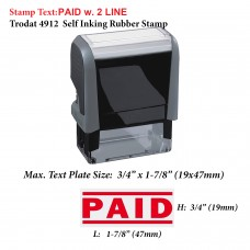 Paid w.2 lines 4912 Self Inking Rubber Stamp