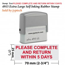 Please Complete And Return Within 5 Days 4915 Self Inking Rubber Stamp