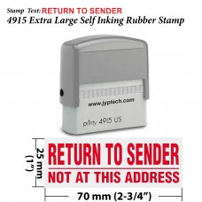Return to Sender Not at This Address 4915 Self Inking Rubber Stamp