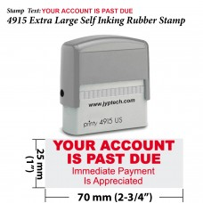 Your Account is Past Due 4915 Self Inking Rubber Stamp