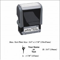 Dancing (01) w. Your Name or Custom Your Personalize Logo w. Your Text Clothing Stamp