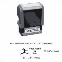 Exercise (01) w. Your Name or Custom Your Personalize Logo w. Your Text Clothing Stamp