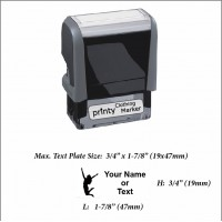 Jumping (01) w. Your Name or Custom Your Personalize Logo w. Your Text Clothing Stamp