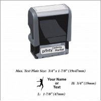 Man (01) w. Your Name or Custom Your Personalize Logo w. Your Text Clothing Stamp