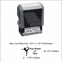 Woman (01) w. Your Name or Custom Your Personalize Logo w. Your Text Clothing Stamp