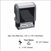 Dancer (01) w. Your Name or Custom Your Personalize Logo w. Your Text Clothing Stamp