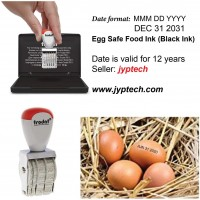 Egg Dater Kit - Includes 3mm Rubber Date Stamp and Ink pad Containing Egg Safe Food Ink