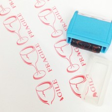 Fragile Roller Self Inking Stock Stamp