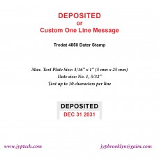 Delivered w. Date or Custom One Line Message 4850 Self Inking Stamp