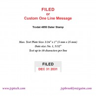 Filed w. Date or Custom One Line Message 4850 Self Inking Stamp