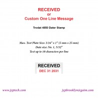 Received w. Date or Custom One Line Message 4850 Self Inking Stamp