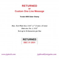 Returned w. Date or Custom One Line Message 4850 Self Inking Stamp